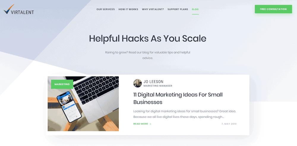 Blog - new website